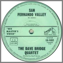 San Fernando Valley B/W Town Hall Shuffle by The Dave Bridge Quartet / The Dave Bridge Trio
