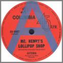 Mr. Henry's Lollipop Shop B/W Today by Autumn