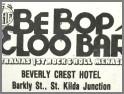 Be Bop & Loo Bar, St Kilda. VIC