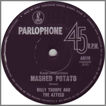 Mashed Potato b/w Don't Cha Know by Billy Thorpe and The Aztecs