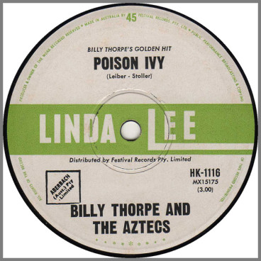 Poison Ivy b/w Blue Day by Billy Thorpe and The Aztecs