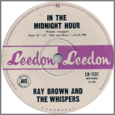 In The Midnight Hour b/w Now Is The Time by Ray Brown & The Whispers