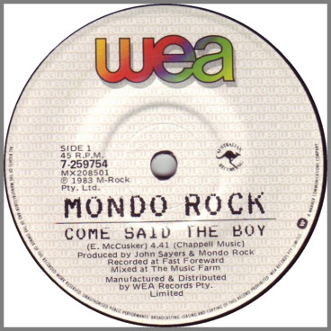 Come Said The Boy by Mondo Rock