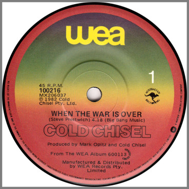 When The War Is Over by Cold Chisel