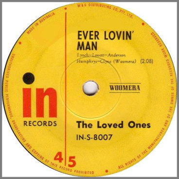 Everlovin' Man B/W Blueberry Hill by The Loved Ones
