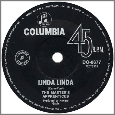Linda Linda B/W Merry-Go-Round by The Masters Apprentices