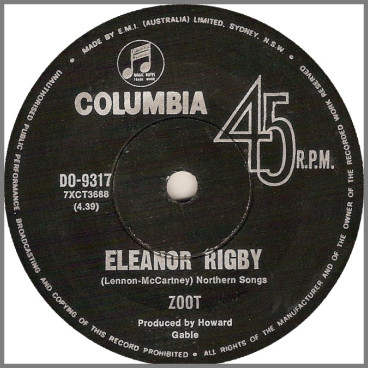 Eleanor Rigby B/W Turn Your Head by Zoot