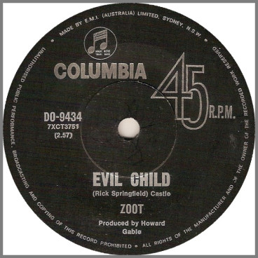 Evil Child B/W The Freak by Zoot