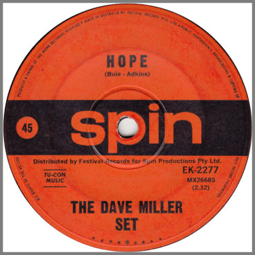 Hope B/W Havin' A Party by The Dave Miller Set