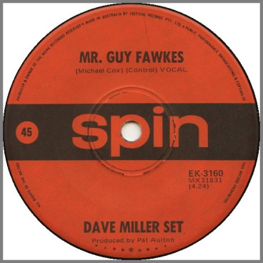 Mr. Guy Fawkes B/W Someone Is Sure To by The Dave Miller Set