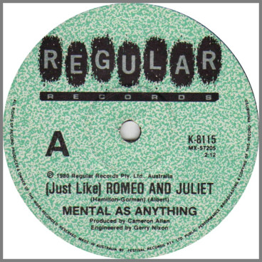 (Just Like) Romeo And Juliet by Mental As Anything