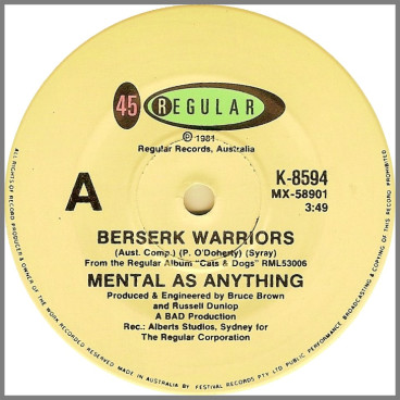 Berserk Warriors by Mental As Anything