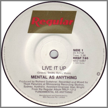 Live It Up by Mental As Anything