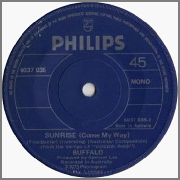 Sunrise (Come My Way) B/W Pound Of Flesh by Buffalo