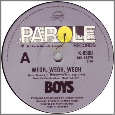 Weoh, Weoh, Weoh B/W One Way by Boys