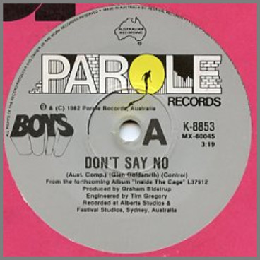 Don't Say No B/W Why'd Ya Do That by Boys