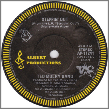 Steppin' Out B/W It's All Over Now by Ted Mulry Gang (TMG)