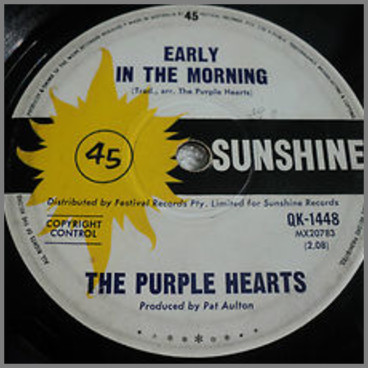 Early In The Morning B/W Just A Little Bit by The Purple Hearts