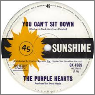 You Can't Sit Down B/W Tiger In Your Tank by The Purple Hearts