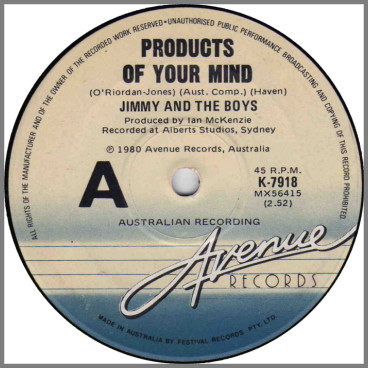 Products Of Your Mind B/W Komputer Song by Jimmy And The Boys