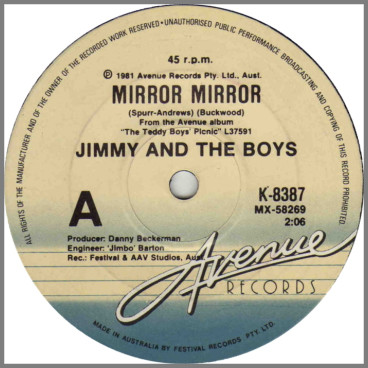 Mirror Mirror B/W Love Is Cheap by Jimmy And The Boys
