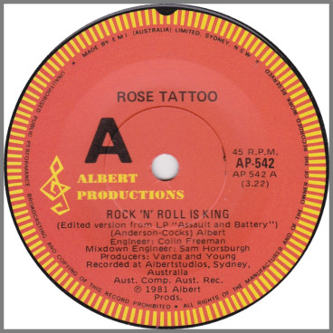 Rock 'N Roll Is King by Rose Tattoo