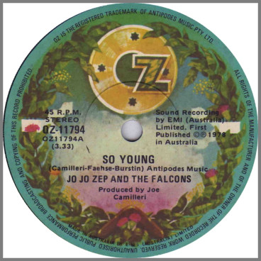 So Young by Jo Jo Zep and the Falcons