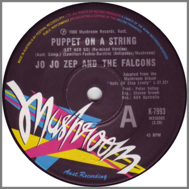 Puppet On A String (Let Her Go) B/W Ain't Going To Spend Another Lonely Night Without You by Jo Jo Zep and the Falcons