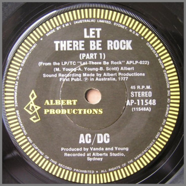 Let There Be Rock (Part 1) B/W Let There Be Rock (Part 2) by AC/DC