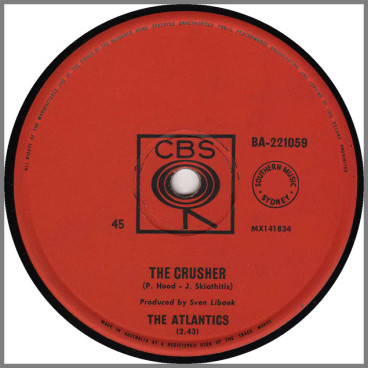 The Crusher B/W Hootenanny Stomp by The Atlantics