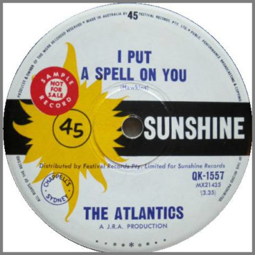 I Put A Spell On You B/W By The Glow Of A Candle by The Atlantics