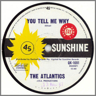 You Tell Me Why B/W Come On by The Atlantics