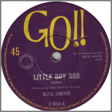 Little Boy Sad B/W Wendy, Don't Go by M.P.D. Limited