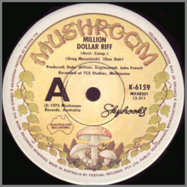 Million Dollar Riff B/W Forging Ahead by Skyhooks
