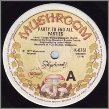 Party To End All Parties B/W Hot Rod James by Skyhooks