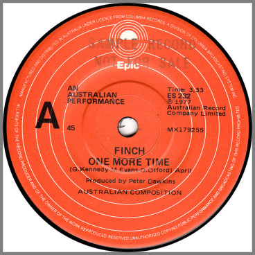 One More Time B/W Mean Machine by Finch/Contraband
