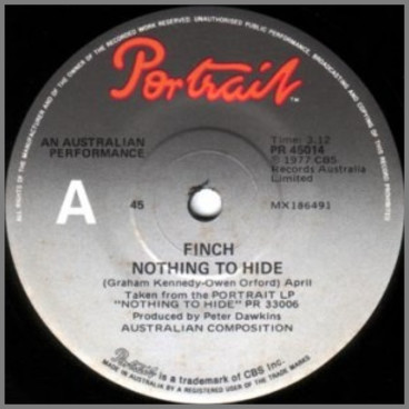 Nothing To Hide B/W Foolin' by Finch/Contraband