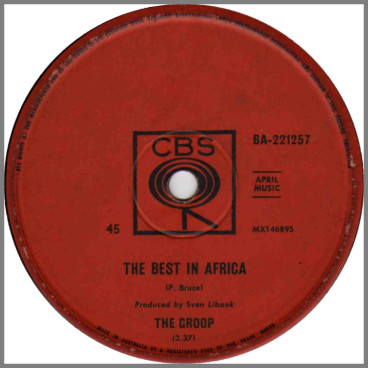 The Best In Africa B/W Gloria by The Groop