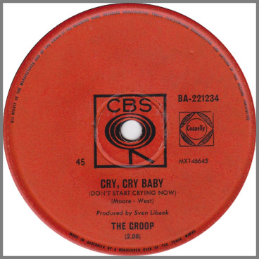 Cry, Cry Baby (Don't Start Crying Now) B/W Ol' Hound Dog by The Groop