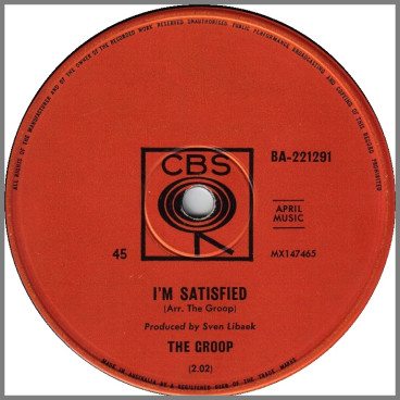 I'm Satisfied B/W (These Are) Bad Times by The Groop