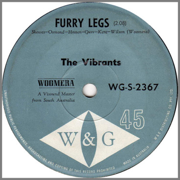 Furry Legs B/W Maybe Tomorrow by The Vibrants