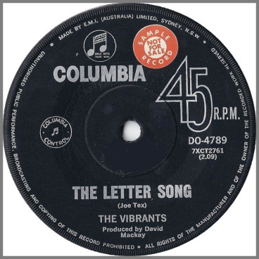 The Letter Song B/W How Sweet It Is by The Vibrants