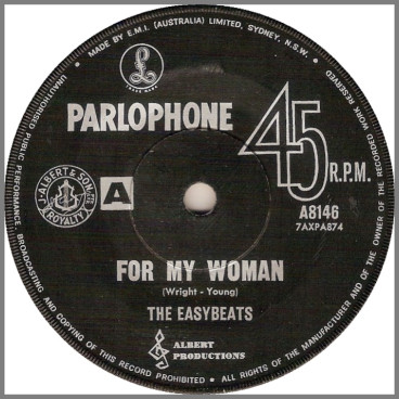 For My Woman B/W Say That You're Mine by The Easybeats