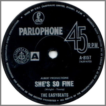 She's So Fine B/W The Old Oak Tree by The Easybeats