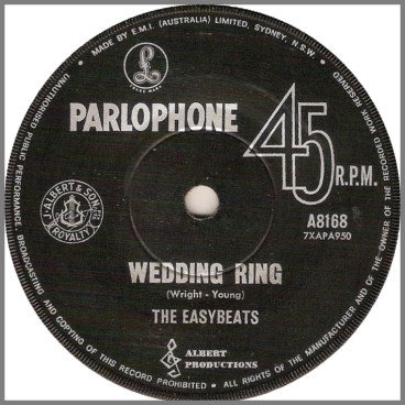 Wedding Ring B/W Me Or You by The Easybeats
