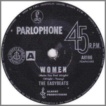 Women (Make You Feel Alright) B/W In My Book by The Easybeats