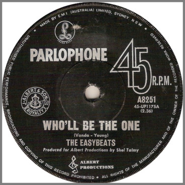 Who'll Be The One B/W Do You Have A Soul by The Easybeats