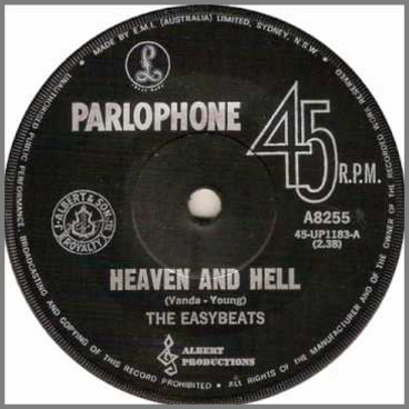 Heaven And Hell B/W Pretty Girl by The Easybeats