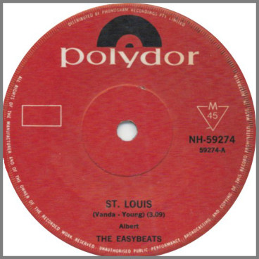 St. Louis B/W Can't Find Love by The Easybeats