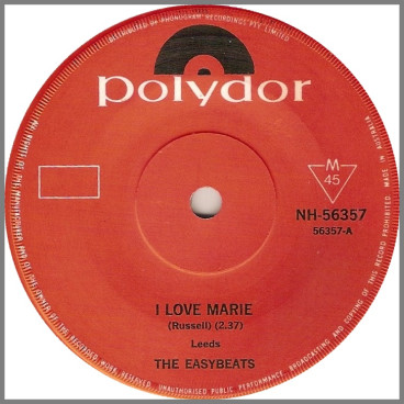 I Love Marie B/W Gonna Make It by The Easybeats